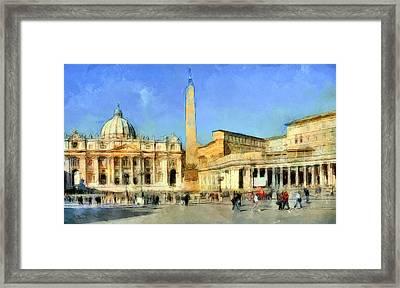 Saint Peter Square Vatican Framed Print