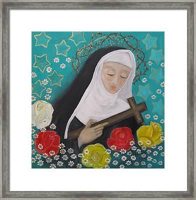 Saint Rita Framed Print by Maria Matheus Maria Santeira