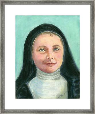Saint Therese Of Lisieux Framed Print by Susan  Clark