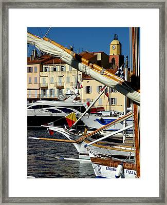 Saint Tropez Harbor Framed Print by Lainie Wrightson