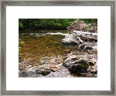 Sainte-anne River, Quebec Framed Print