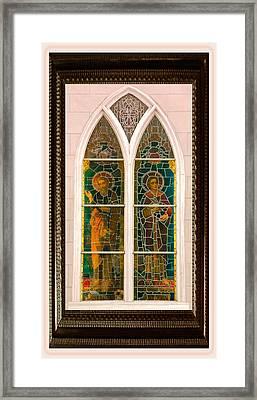 Saints In The Window Framed Print