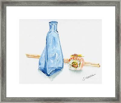 Sake And Sushi Framed Print by Sheryl Heatherly Hawkins