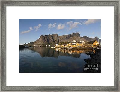 Sakrisoy Fishermen's Village II Framed Print