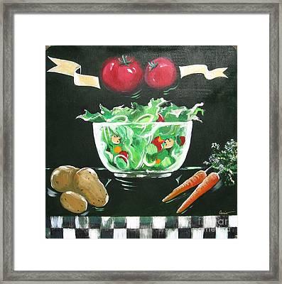 Salad Bowl Framed Print