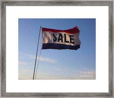 Sale Flag In The Wind Framed Print by Paul Edmondson