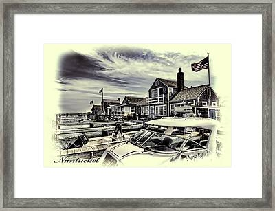 Framed Print featuring the photograph Salem Street - Nantucket Harbor by Jack Torcello