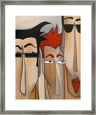 Sales Crew Framed Print