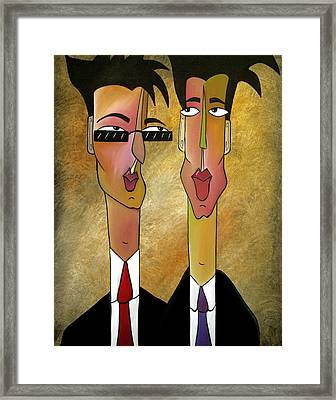 Sales Team Framed Print by Tom Fedro - Fidostudio