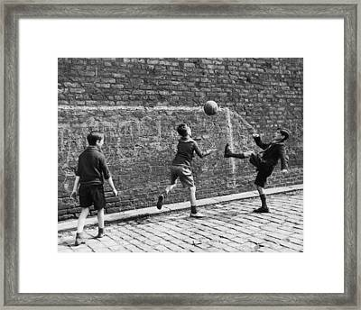 Salford Soccer Framed Print by Nick Yapp