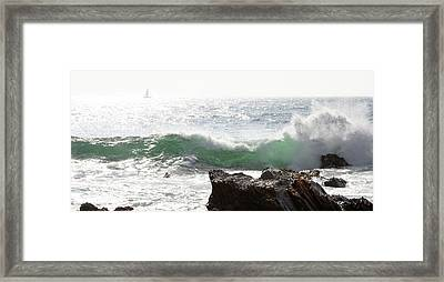 Framed Print featuring the photograph Saling 1 by Michael Rock