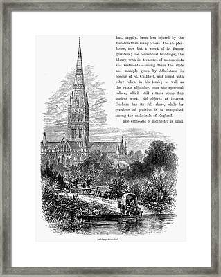Salisbury Cathedral Framed Print by Granger