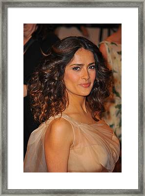 Salma Hayek At Arrivals For Alexander Framed Print by Everett