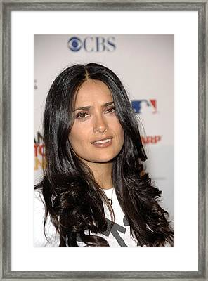 Salma Hayek At Arrivals For Stand Up To Framed Print by Everett