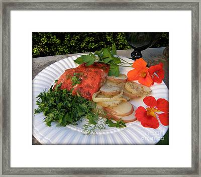Salmon Dinner Framed Print