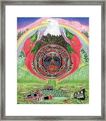 Salmon Life Cycle Framed Print