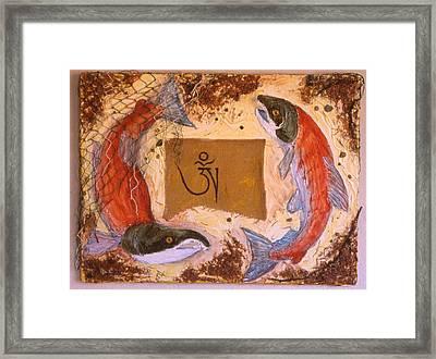 Salmon Of The Bliss Body Framed Print by Sandy Eastoak