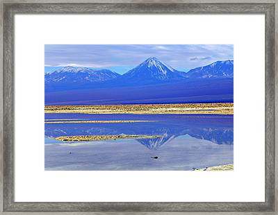 Salt Lake At The Atacama Desert Chile Framed Print