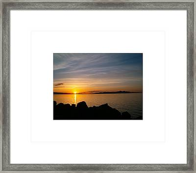 Salt Lake Sunset Framed Print