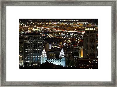 Salt Lake Temple Framed Print by Photo by Jim Boud