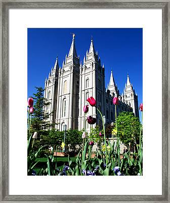 Salt Lake Temple Framed Print by Robert Gallup