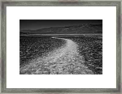 Salt Road Framed Print