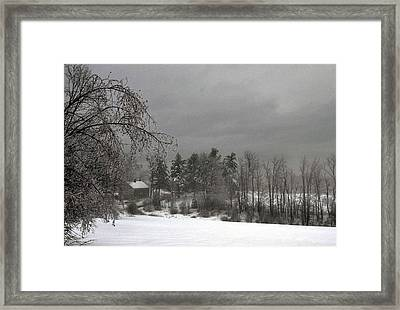 Saltbox Framed Print by Janet White