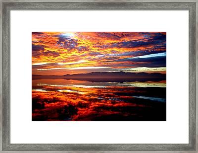 Salton Sea Sunset Number One Framed Print