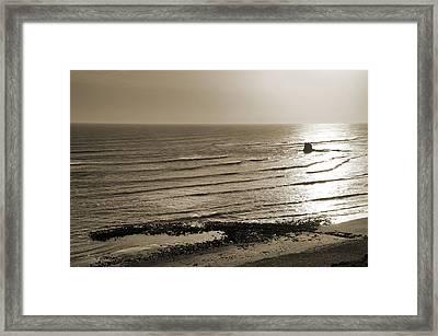 Saltwick Bay Framed Print by Svetlana Sewell