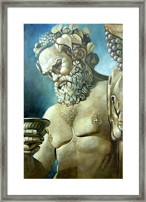 Salutations From Bacchus Framed Print by Geraldine Arata