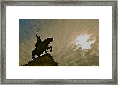 Framed Print featuring the photograph Salute To The Sun by Eric Tressler