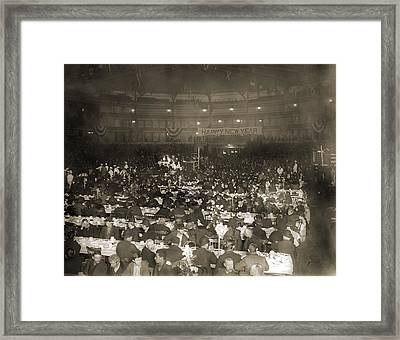 Salvation Armys New Years Dinner Framed Print by Everett