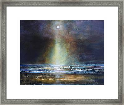Salvation Beach Framed Print by Toni Grote