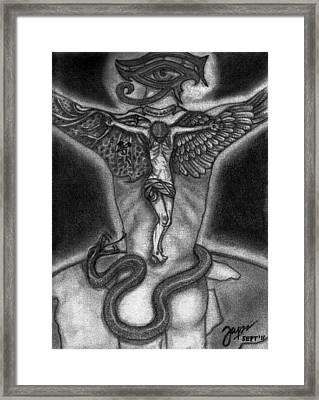 Salvino De Cristo Framed Print by Cheppy Japz