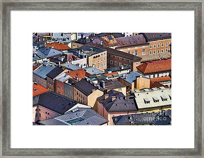 Salzburg's Roofs Austria Europe Framed Print by Sabine Jacobs