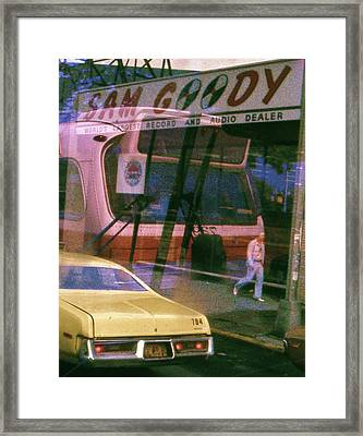 Framed Print featuring the photograph Sam Goody - New York 1976 by Craig Wood