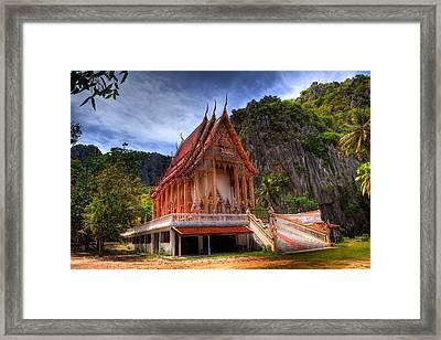 Sam Roi Yot Temple Framed Print by Adrian Evans