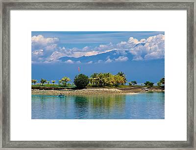 Samal Island Davao Framed Print by Arj Munoz