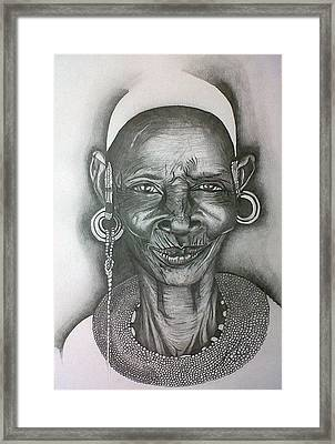 Samburu Tribe I. Framed Print by Paula Steffensen