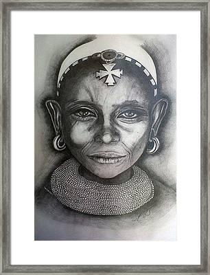 Samburu Tribe II. Framed Print by Paula Steffensen
