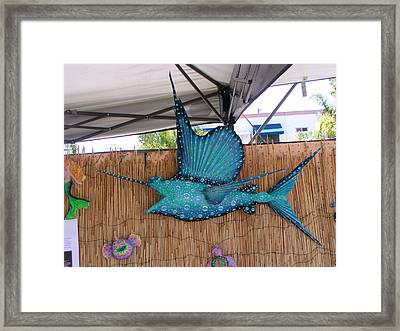 Sampson The Sailfish Framed Print