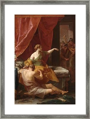 Samson And Delilah Framed Print by Pompeo Girolamo Batoni