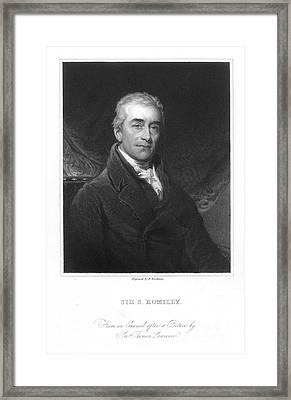 Samuel Romilly (1757-1818) Framed Print