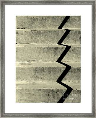 San Andreas Stairs Framed Print by Joe Jake Pratt