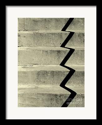 Crack In Concrete Framed Prints