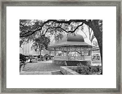 San Antonio Bandstand II Framed Print