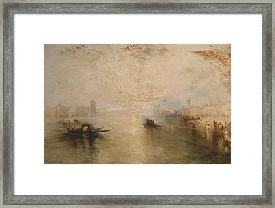 San Benedetto Looking Toward Fusina Framed Print by James Baker Pyne