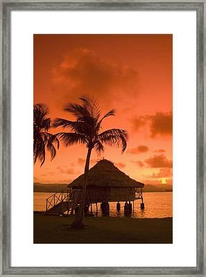 San Blas Sunrise Framed Print by Gloria & Richard Maschmeyer