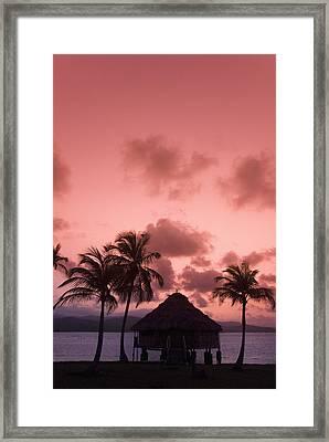 San Blas Sunrise II Framed Print by Gloria & Richard Maschmeyer
