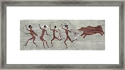 San Bushmen Rain Dance, Artwork Framed Print by Sheila Terry